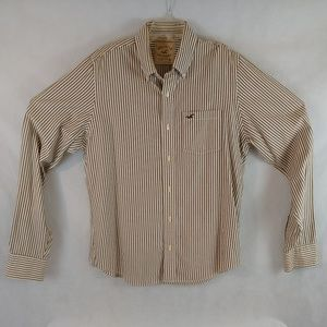 Hollister California Shirt XL Long Sleeve Striped